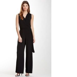 Tiana B. Sleeveless Black Jumpsuit Small